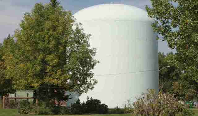 A White Domed Water Tower